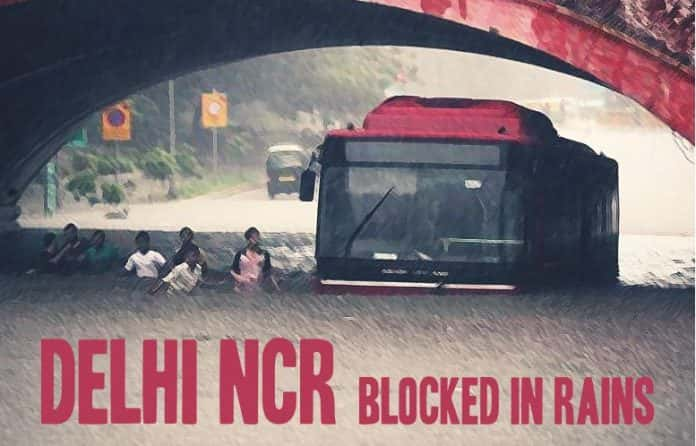 delhi-ncr-blocked-rains-