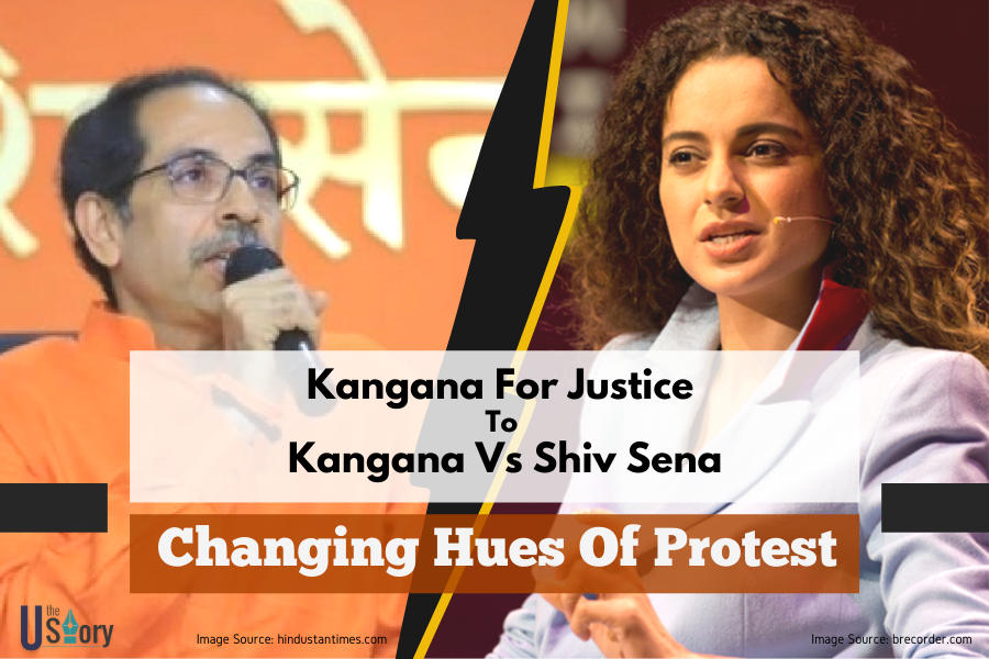 kangana-for-justice-to-kangana-vs-shiv-sena-changing-hues-of-protest