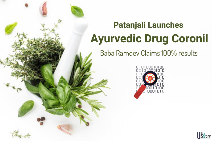 patanjali-launches-ayurvedic-drug-coronil-baba-ramdev-claims-100-results